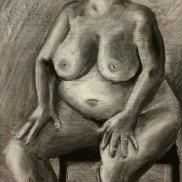 Cropped Seated Woman