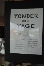 Powder on a Page - Exhibition Flyer