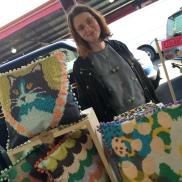 Stall neighbour - Ester Sandler's clever digital tapestries.