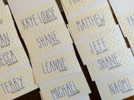 Hand drawn place cards